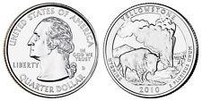 2010 D US Yellowstone Wyoming America The Beautiful Quarter Dollar - 2 BU Coins