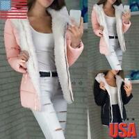 Women's Super Warm Coat Jacket Outwear Fur Lined Winter Hooded Parka Overcoat US