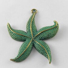 10 pcs Retro Style Zinc Alloy Bronze Starfish Charms Necklace Pendant Findings