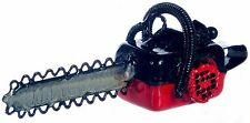 Dollhouse Miniature - Red Chainsaw - 1:12 Scale