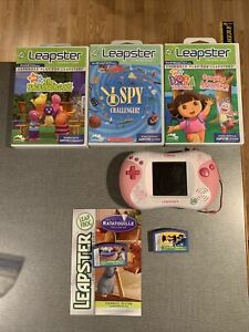 Leap Frog Lot - Leapster 2 Console w/ 5 Games - Disney Princess Pink
