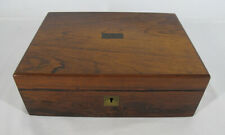 Antique 1891 Presentation Traveling Lap Desk Writing Slope Walnut w/Lock&Key yqz