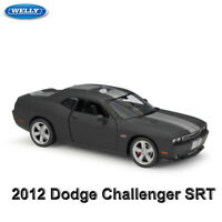 WELLY 1:24 Scale Diecast Car Model - 2012 Dodge Challenger SRT - Matte Black