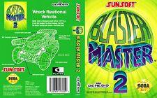 Blaster master 2 Sega Genesis NTSC Replacement Box Art Case Insert Reproduction