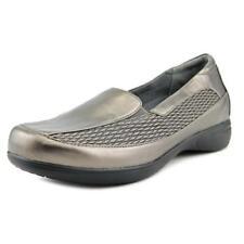 Chaussures métalliques en cuir pour femme