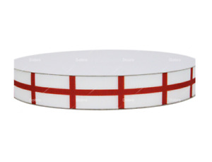 """1m ENGLAND RIBBON ST GEORGE CROSS FLAG FOOTBALL RUGBY 7/8"""" 22mm WORLD CUP"""