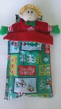 Christmas Elf Sleeping Bag, Christmas Elf gear, Hand-made craft in the US,