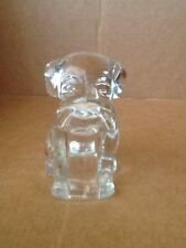 Clear Glass Candy Container Dog  Figurine.