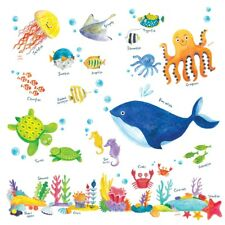 Decowall Sea Animals Nursery Kids Removable Wall Stickers Decal DW-1311
