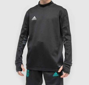 Boys Adidas Tiro 17 Training Top Black Adidas ClimaCool Turtle Neck Top NEW