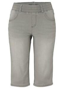 Arizona Slip-On Denim Shorts Grey Size UK 20 LF170 BB 03
