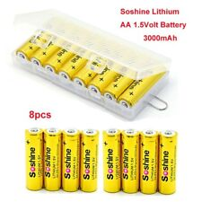8pcs Soshine 1.5Volt AA Lithium AA High Capacity Battery For Camera Camcorder