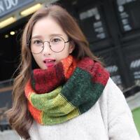 Women Winter Warm Infinity Circle Cable Knit Cowl Neck Long Scarf Shawl Wrap S