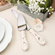Vintage Antique Design Wedding Cake Serving Set Knife Server Gift ENGRAVING