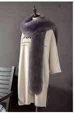 Faux Fur Bridal Scarf Fluffy Winter Shawl Wrap Stole Warm Shrug Lady WeddingLong