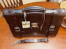 RALPH LAUREN RRL  Distressed Leather  Briefcase / Messenger Bag - Made In Italy