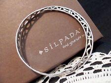 SILPADA .925 Solid Sterling Silver DEL MAR BANGLE BRACELET # B2783 & Bonus Items