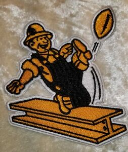 """Pittsburgh Steelers 4"""" Mascot Steely McBeam Iron On Embroidered Patch~"""
