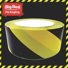 BLACK & YELLOW STRIPED FLOOR MARKING TAPE 48mm x 33m SAFETY OH&S HAZARD WARNING