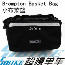 ACE/ Front Basket Bag for Brompton Bicycle carrier black
