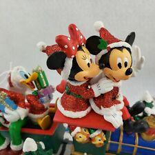 Disney Christmas Mickey Mouse & Friends on Train Figurine Florida Park Version