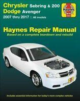 Chrysler Sebring, 200 & Dodge Avenger 2007-2017 Haynes Manual 25041 NEW