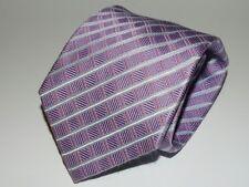Smart Formal Daniel Hechter Mens Silk Tie Purple / Silver Diamond Check