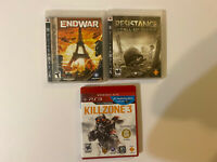Lot Of 3 PlayStation 3 Ps3 Games Kill Zone 3, Endwar, Resistance Fall Of Man