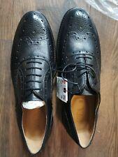 Zara Mens Leather Shoes Size 9 Black