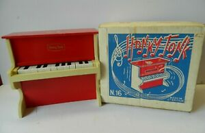 Vintage Honky-tonk Toy Piano Playcraft Toys Ltd. (Working in Box VGC)