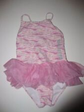 NEW NWT NAartjie SwimSuit Bathing Suit Tie Dye Netting Skirt Pink Pearly Size 9