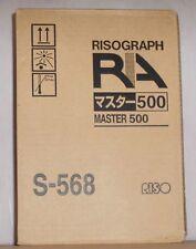 Riso S-568 Master 500 Rollen Risograph für RA 4050 4200 4300 4900 5900 6300 OVP