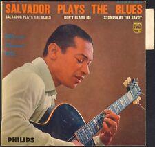 SALVADOR PLAYS THE BLUES BATTERIE MAC KAK RARE 45T EP BIEM PHILIPS 432.483