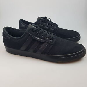 Men's ADIDAS 'Seeley' Sz 11 US Shoes Black VGCon Skate Canvas   3+ Extra 10% Off