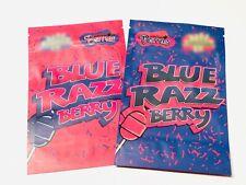 25ct BLUE RAZZ MYLAR PACKAGING 3.5 4x6inch SAME DAY SHIPPING