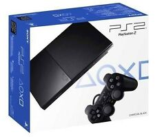 Sony Official PlayStation 2 Slim Console - Charcoal Black [SCPH-90001, NTSC] NEW