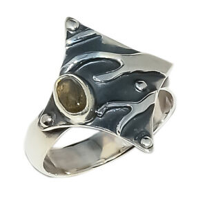 Canadian Labradorite Vintage Solid 925 Sterling Silver Ring s.7 S2085