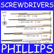 Mini SCREW DRIVER set PHILLIPS type cross slotted WATCH BATTERY ELECTRONIC PHONE