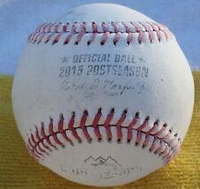 2015 GAME USED FOUL MLB BASEBALL POSTSEASON ALCS GAME 1 KC ROYALS & BLUE JAYS