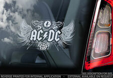 AC/DC - Car Window Sticker - Rock Sign AC DC Angus Young Back in Black ACDC -V02