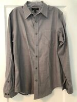 Men's Banana Republic Slim Fit Long Sleeve Button Up Shirt. Gray Chambray. M