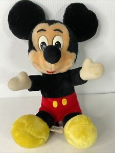 "Mickey Mouse Plush Disneyland Walt Disney World 14"" Vintage"