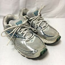 Brooks Addiction 10 Womens 8 B Blue Silver Lace Up Athletic Running Shoes