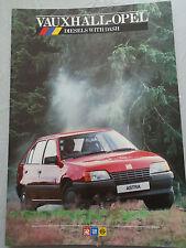 Vauxhall Opel range brochure Dec 1985