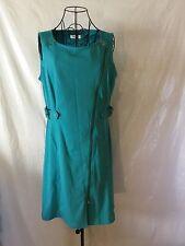 CALVIN KLEIN Blue Turquoise Zipper Belt Buckle Dress Women's (12)