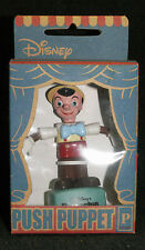 VINTAGE Disney Character Pinocchio PUSH PUPPET TOY Small Planet Japan MIB