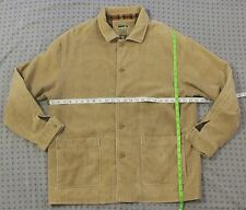 RFT Corduroy Jacket Coat Sz L Tan Khaki Plaid Lining Rainforest Casual Mens