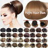 Horn Hair Bun Real Natural Clip In Hair Piece Extensions As Human Chignon Updo A