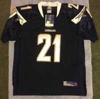 New Reebok Ladalian Tomlinson San Diego Chargers Jersey Size 54 Men's 2xl