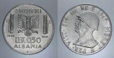 0,50 LEK 1941 VITT. EMANUELE III ALBANIA